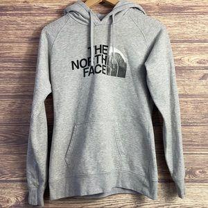 The North Face small grey black hoodie sweatshirt